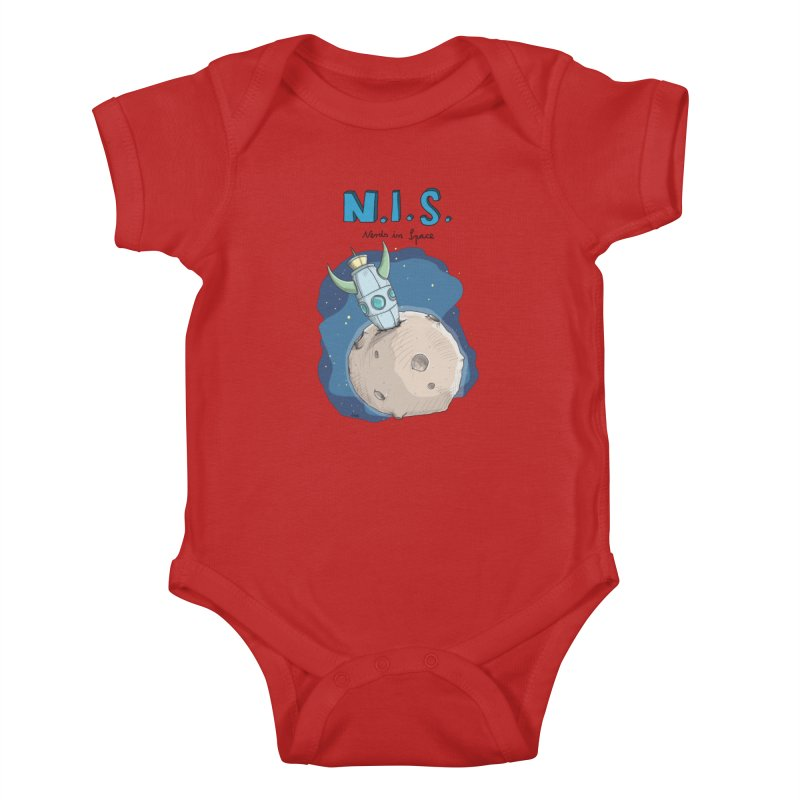 Nerds in Space. Is there intelligent Life in the Universe? Kids Baby Bodysuit by Illustrated Madness