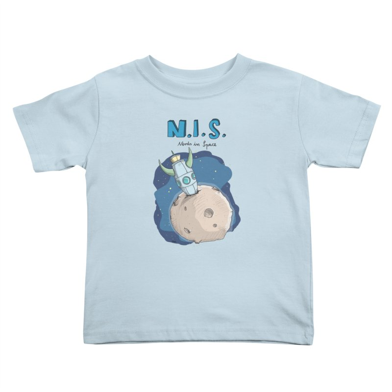 Nerds in Space. Is there intelligent Life in the Universe? Kids Toddler T-Shirt by Illustrated Madness