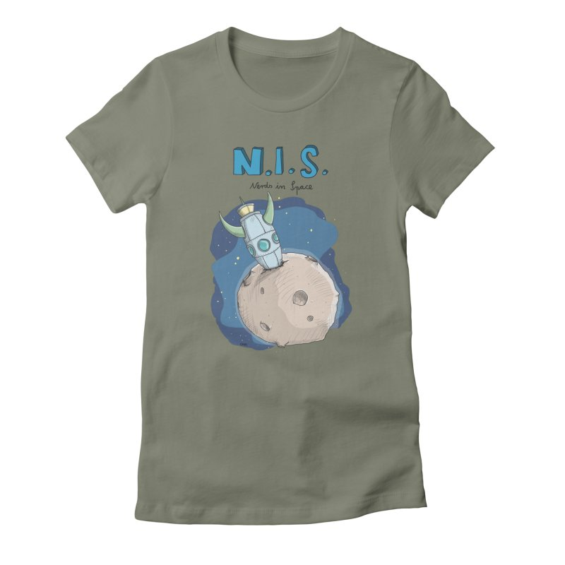 Nerds in Space. Is there intelligent Life in the Universe? Women's T-Shirt by Illustrated Madness