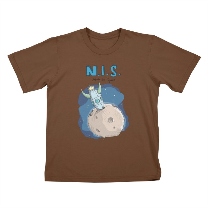 Nerds in Space. Is there intelligent Life in the Universe? Kids T-Shirt by Illustrated Madness