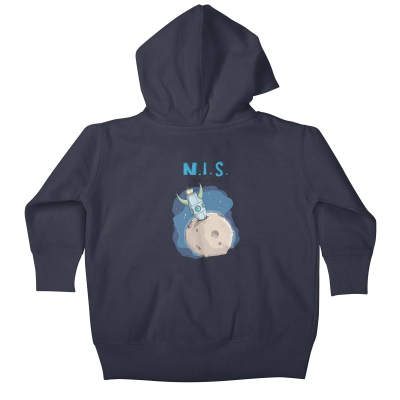 Nerds in Space. Is there intelligent Life in the Universe? Kids Baby Zip-Up Hoody by Illustrated Madness
