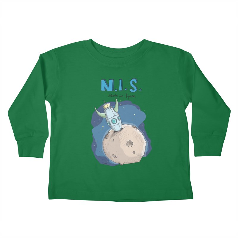 Nerds in Space. Is there intelligent Life in the Universe? Kids Toddler Longsleeve T-Shirt by Illustrated Madness