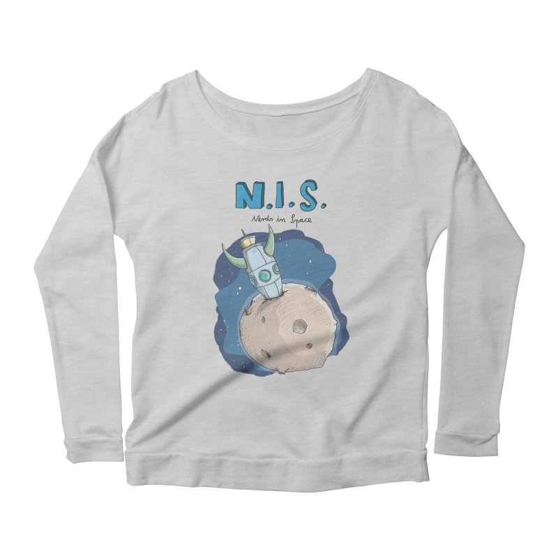 Nerds in Space. Is there intelligent Life in the Universe? Women's Longsleeve Scoopneck  by Illustrated Madness