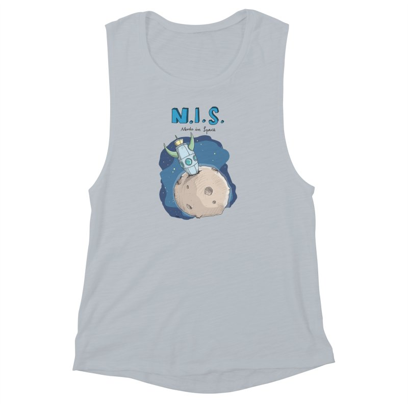 Nerds in Space. Is there intelligent Life in the Universe? Women's Muscle Tank by Illustrated Madness