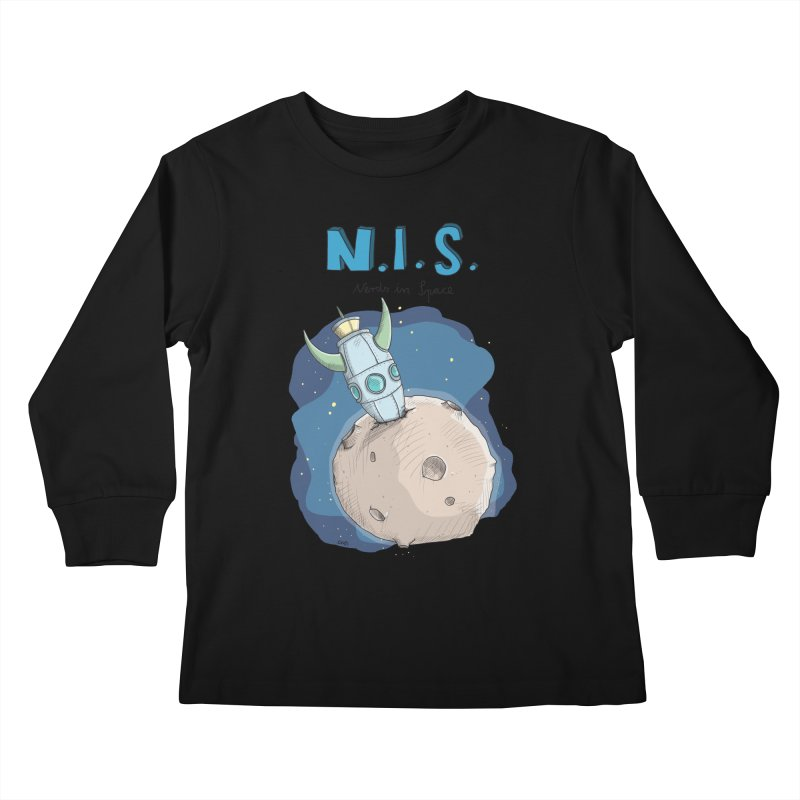 Nerds in Space. Is there intelligent Life in the Universe? Kids Longsleeve T-Shirt by Illustrated Madness