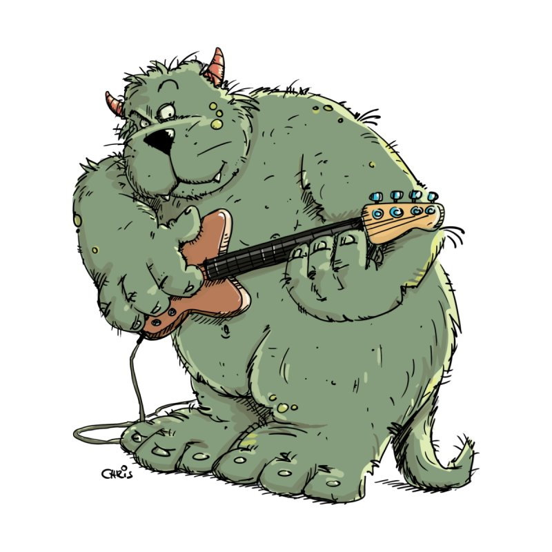 The Bassist is a real Monster by Illustrated Madness