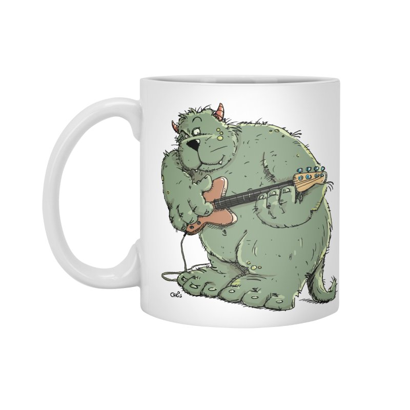 The Bassist is a real Monster Accessories Standard Mug by Illustrated Madness
