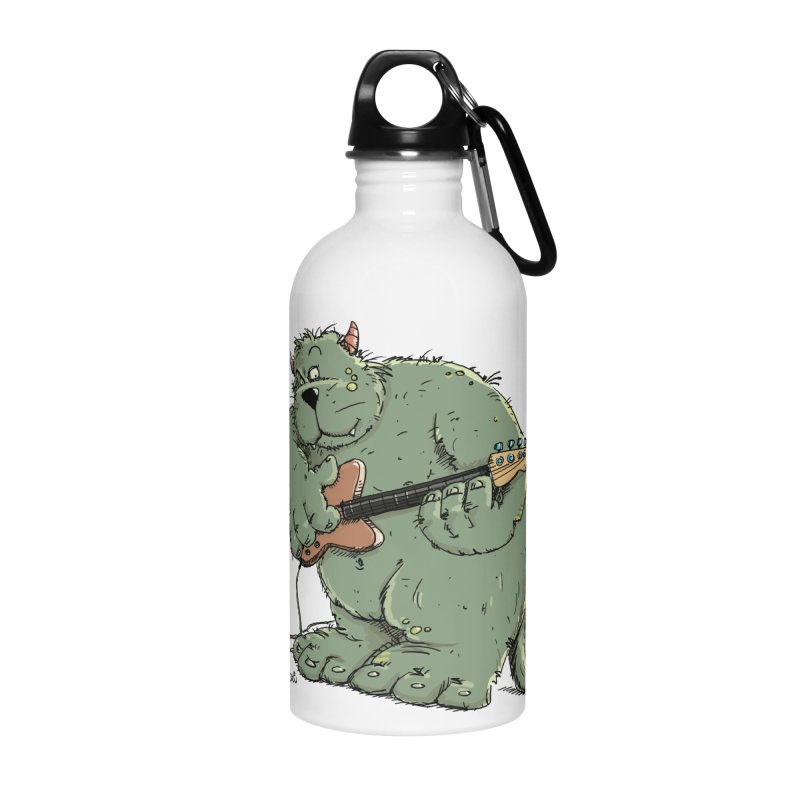 The Bassist is a real Monster Accessories Water Bottle by Illustrated Madness