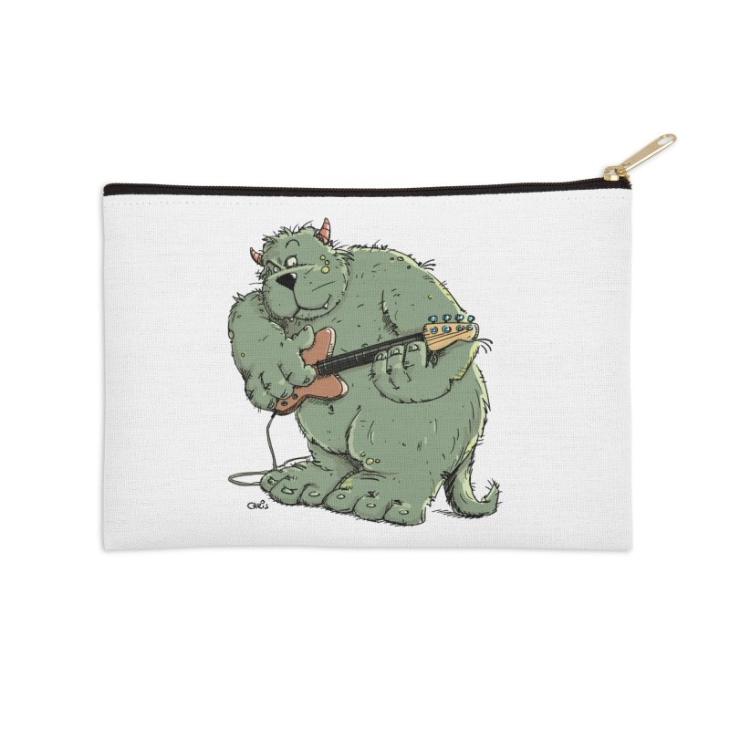 The Bassist is a real Monster Accessories Zip Pouch by Illustrated Madness