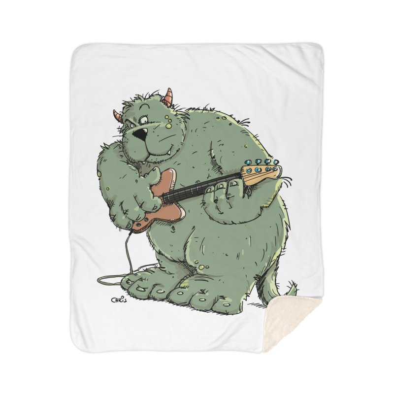The Bassist is a real Monster Home Blanket by Illustrated Madness