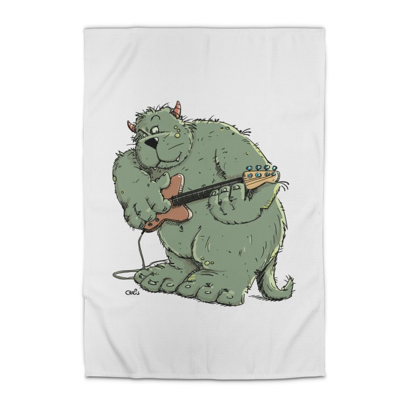 The Bassist is a real Monster Home Rug by Illustrated Madness