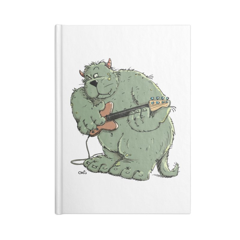 The Bassist is a real Monster Accessories Lined Journal Notebook by Illustrated Madness