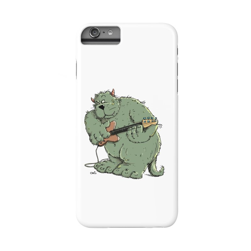 The Bassist is a real Monster Accessories Phone Case by Illustrated Madness