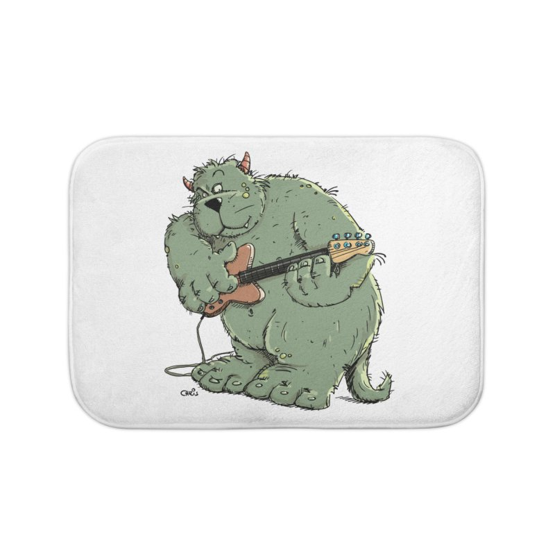 The Bassist is a real Monster Home Bath Mat by Illustrated Madness