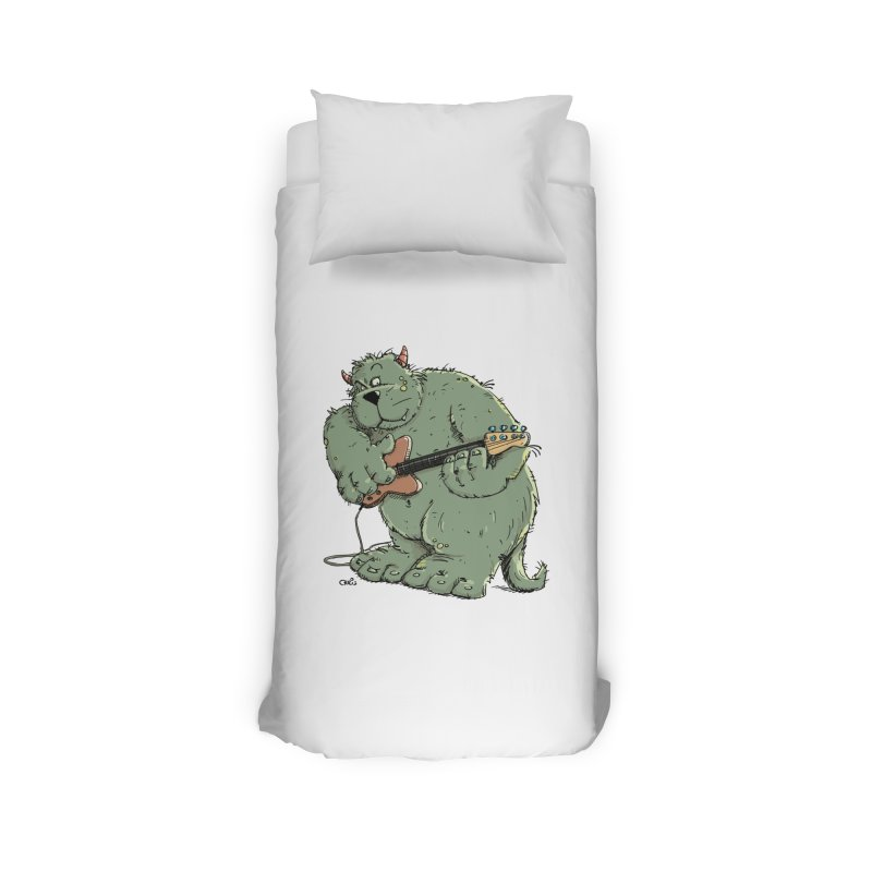 The Bassist is a real Monster Home Duvet by Illustrated Madness