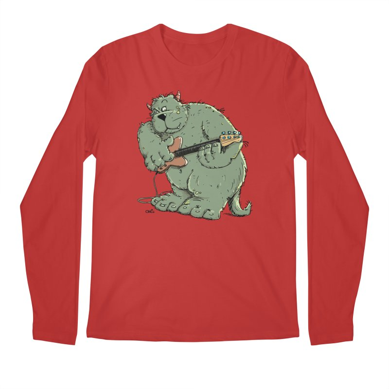 The Bassist is a real Monster Men's Longsleeve T-Shirt by Illustrated Madness