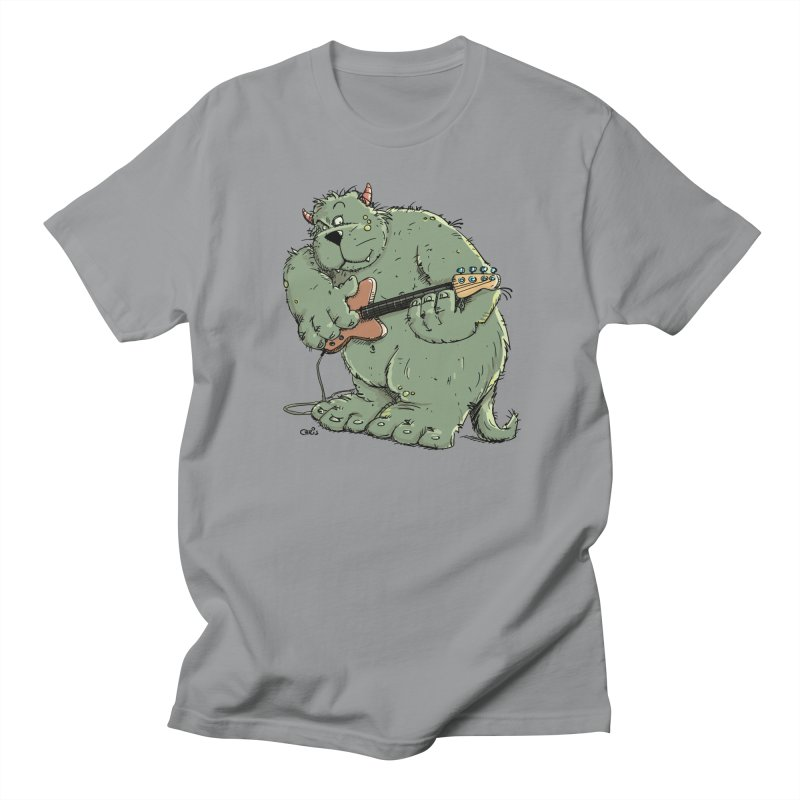 The Bassist is a real Monster Men's Regular T-Shirt by Illustrated Madness