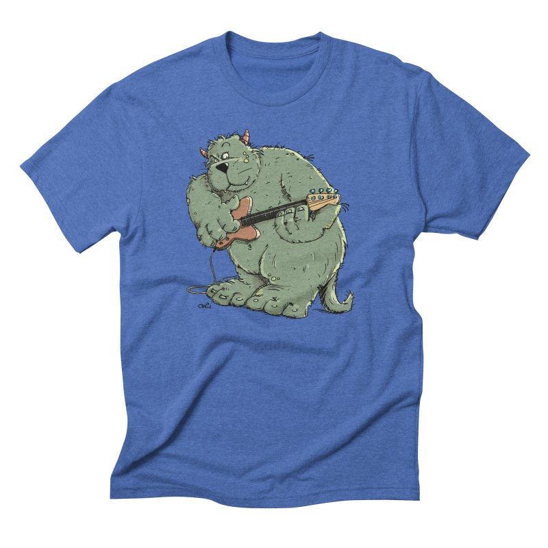 The Bassist is a real Monster Men's T-Shirt by Illustrated Madness