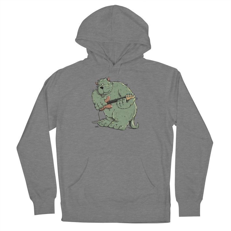 The Bassist is a real Monster Women's Pullover Hoody by Illustrated Madness