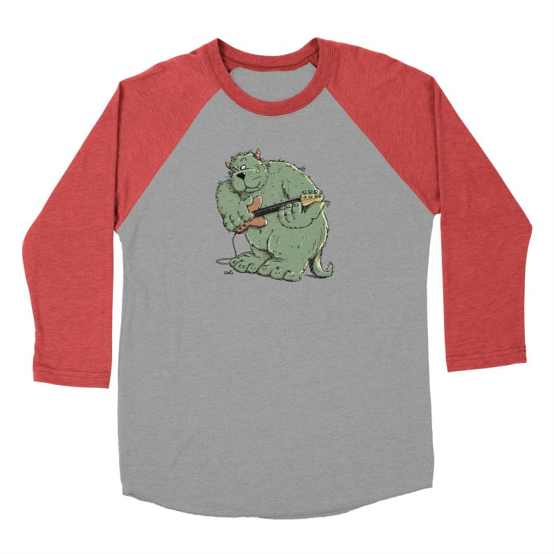 The Bassist is a real Monster Women's Longsleeve T-Shirt by Illustrated Madness