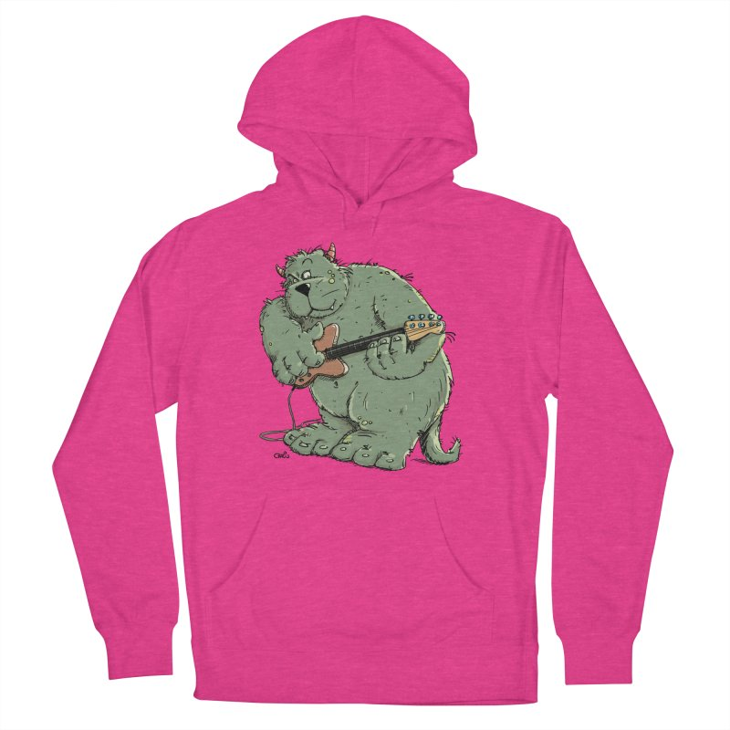 The Bassist is a real Monster Women's French Terry Pullover Hoody by Illustrated Madness