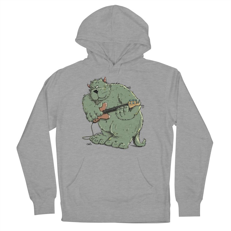 The Bassist is a real Monster Men's Pullover Hoody by Illustrated Madness