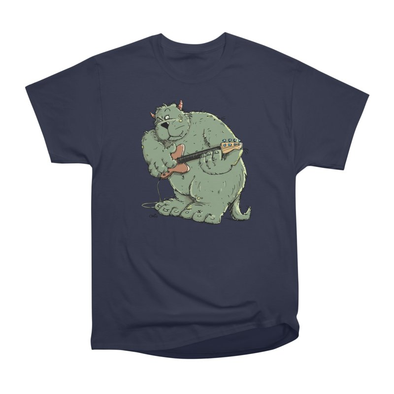 The Bassist is a real Monster Men's Heavyweight T-Shirt by Illustrated Madness