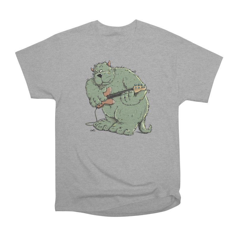 The Bassist is a real Monster Women's Heavyweight Unisex T-Shirt by Illustrated Madness