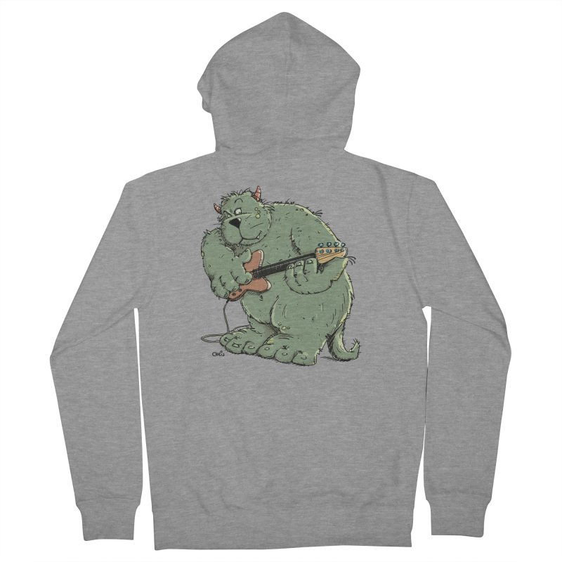 The Bassist is a real Monster Women's Zip-Up Hoody by Illustrated Madness