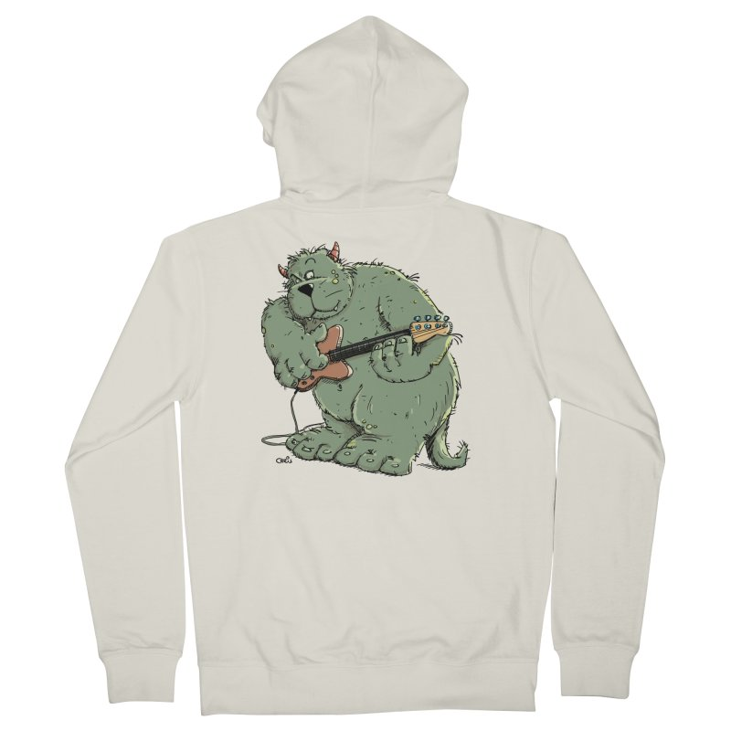 The Bassist is a real Monster Women's French Terry Zip-Up Hoody by Illustrated Madness