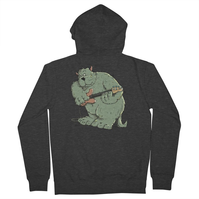 The Bassist is a real Monster Men's Zip-Up Hoody by Illustrated Madness