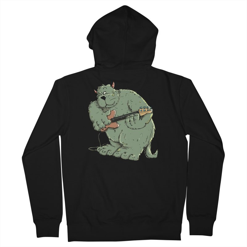 The Bassist is a real Monster Men's French Terry Zip-Up Hoody by Illustrated Madness