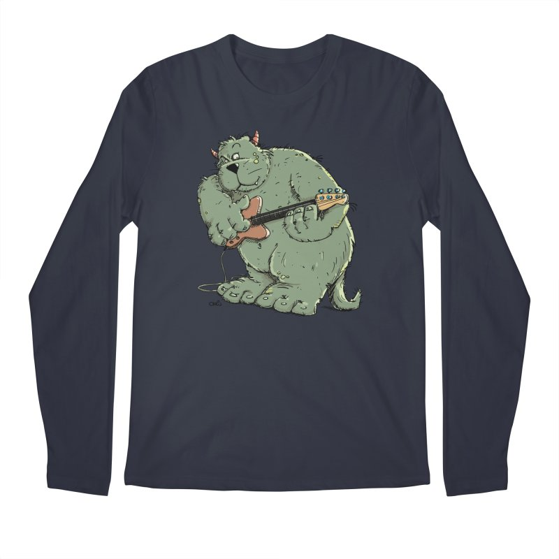 The Bassist is a real Monster Men's Regular Longsleeve T-Shirt by Illustrated Madness