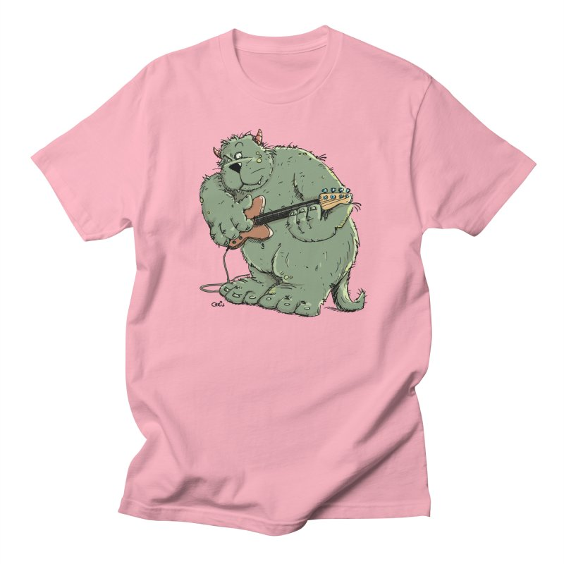 The Bassist is a real Monster Women's Regular Unisex T-Shirt by Illustrated Madness