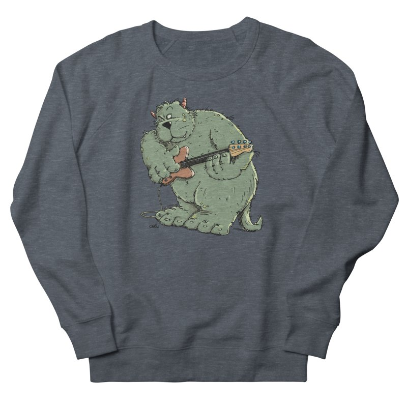 The Bassist is a real Monster Women's Sweatshirt by Illustrated Madness