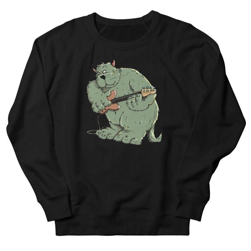 The Bassist is a real Monster Women's French Terry Sweatshirt by Illustrated Madness