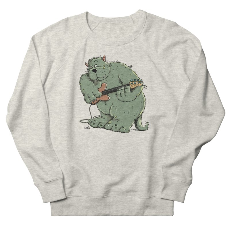 The Bassist is a real Monster Men's French Terry Sweatshirt by Illustrated Madness