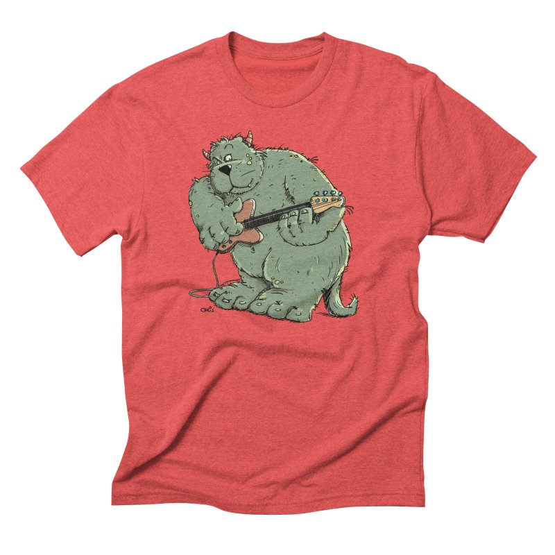 The Bassist is a real Monster Men's Triblend T-Shirt by Illustrated Madness