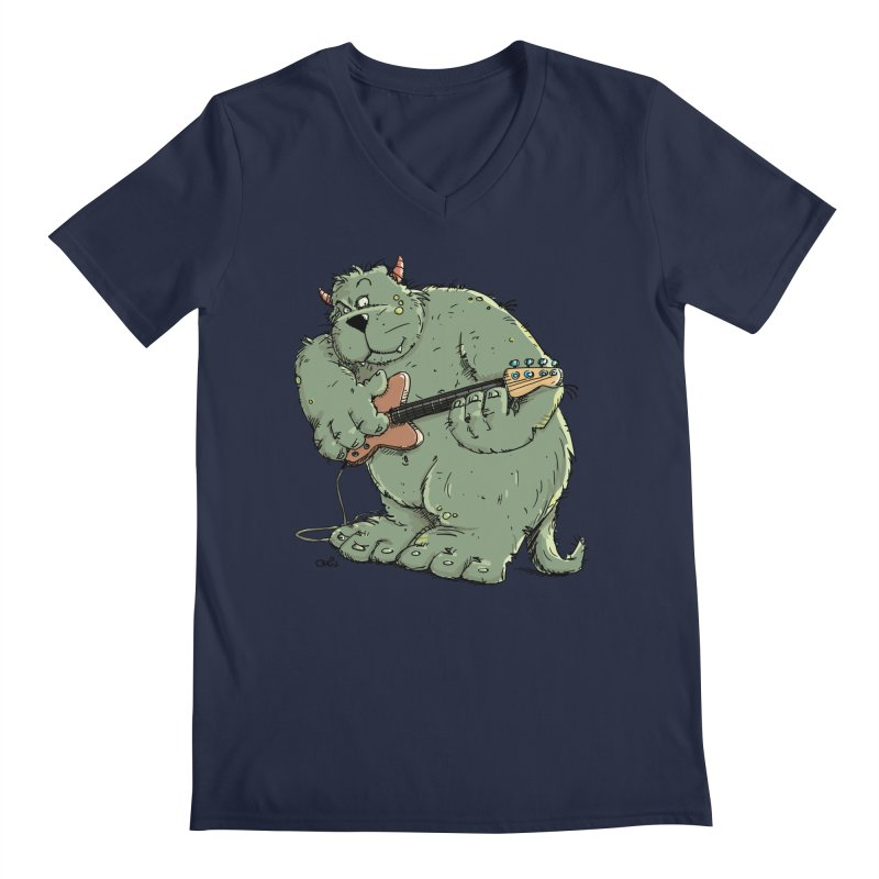 The Bassist is a real Monster Men's V-Neck by Illustrated Madness