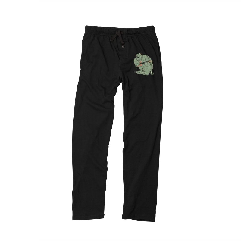 The Bassist is a real Monster Men's Lounge Pants by Illustrated Madness