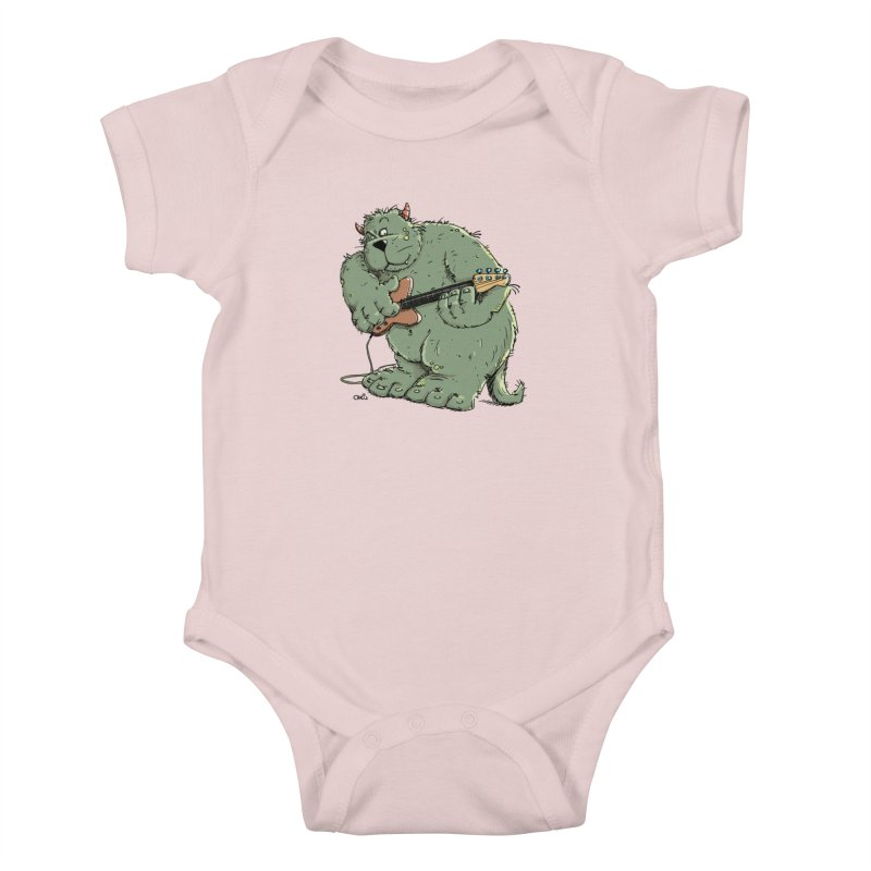 The Bassist is a real Monster Kids Baby Bodysuit by Illustrated Madness