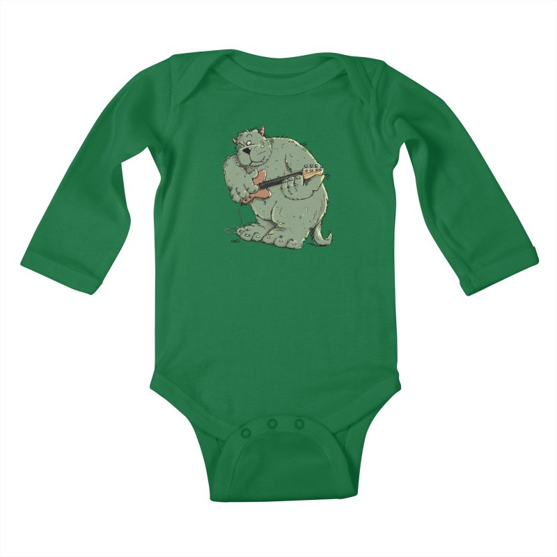 The Bassist is a real Monster Kids Baby Longsleeve Bodysuit by Illustrated Madness