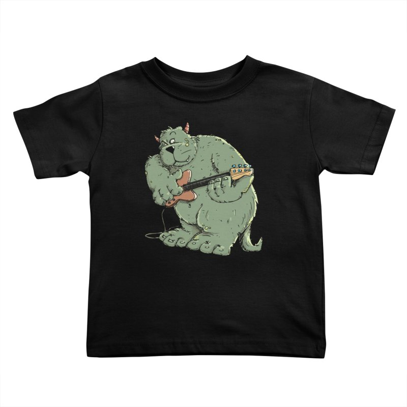 The Bassist is a real Monster Kids Toddler T-Shirt by Illustrated Madness