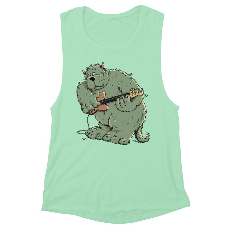 The Bassist is a real Monster Women's Muscle Tank by Illustrated Madness