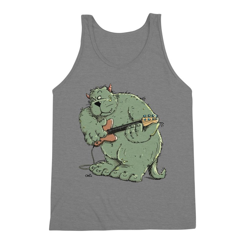 The Bassist is a real Monster Men's Triblend Tank by Illustrated Madness