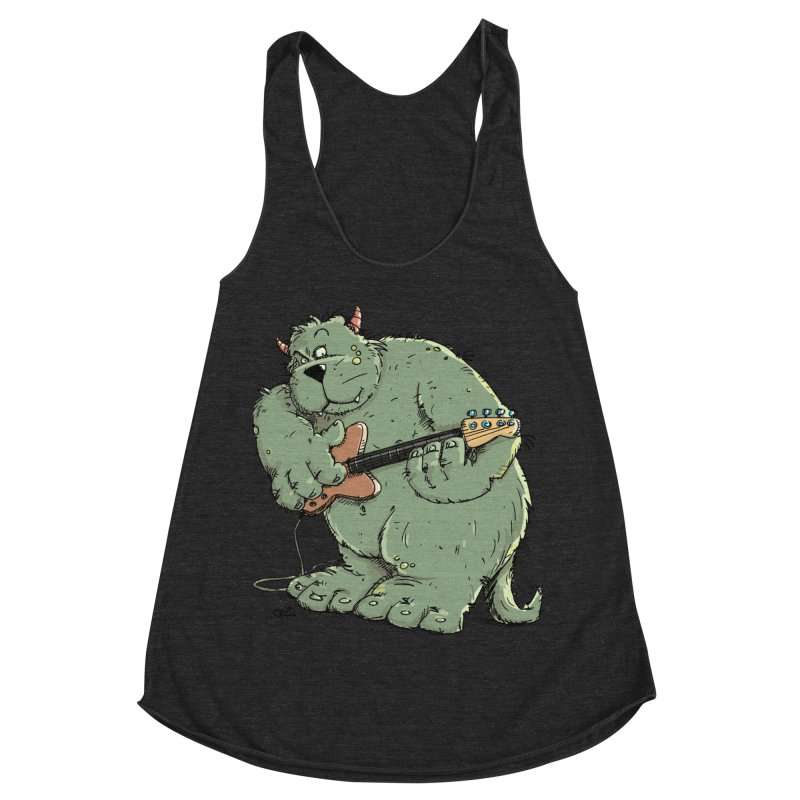 The Bassist is a real Monster Women's Racerback Triblend Tank by Illustrated Madness