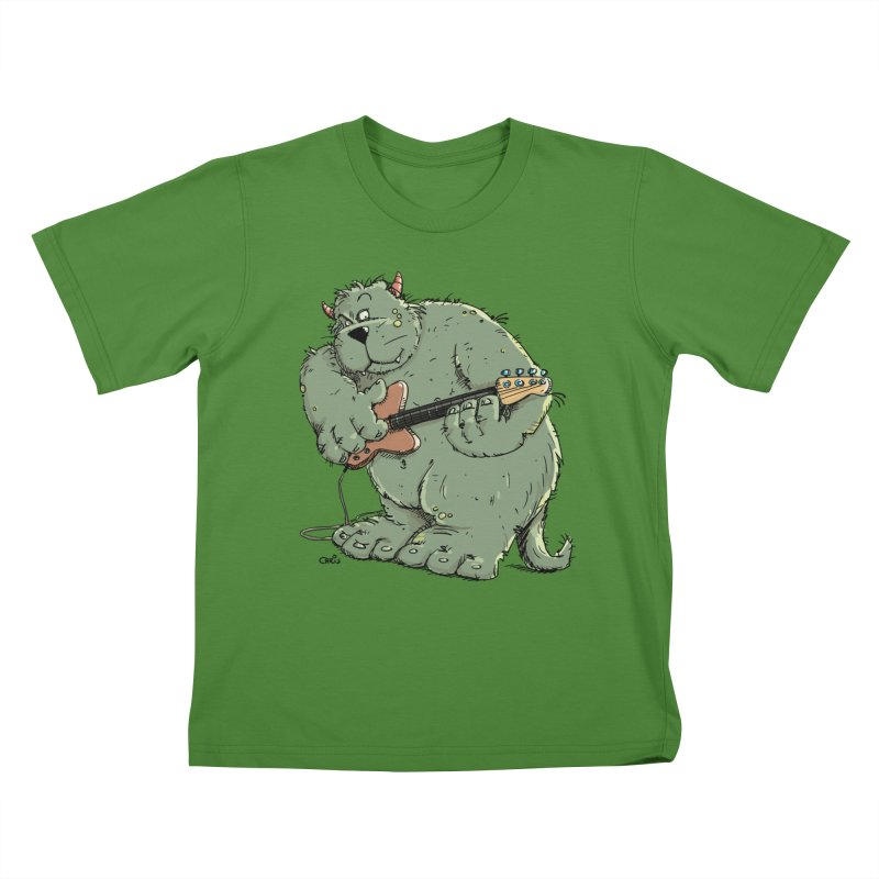 The Bassist is a real Monster Kids T-Shirt by Illustrated Madness