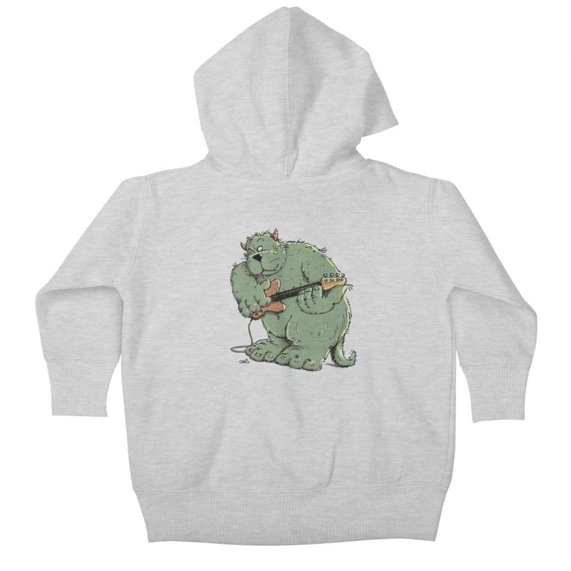 The Bassist is a real Monster Kids Baby Zip-Up Hoody by Illustrated Madness