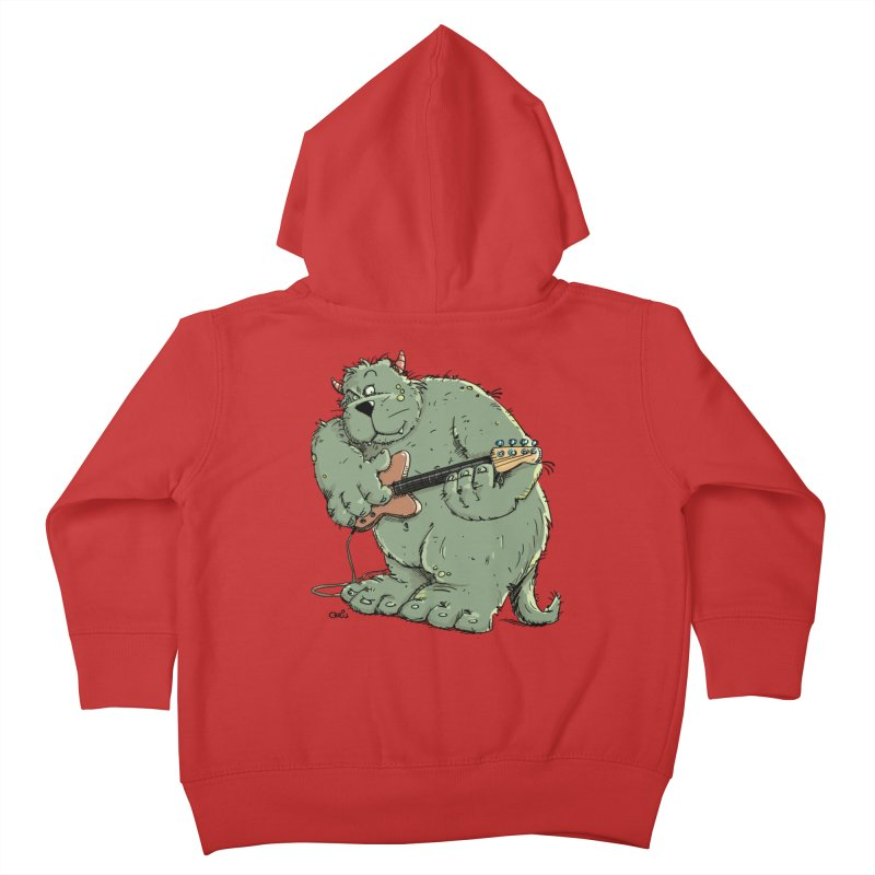 The Bassist is a real Monster Kids Toddler Zip-Up Hoody by Illustrated Madness