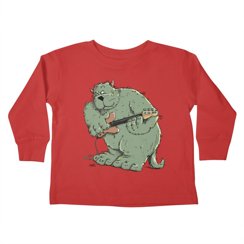 The Bassist is a real Monster Kids Toddler Longsleeve T-Shirt by Illustrated Madness